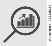 graph and magnifying glass.... | Shutterstock .eps vector #716838250