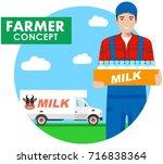 farmer concept. detailed... | Shutterstock .eps vector #716838364