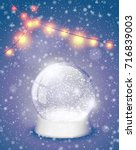 snow globe christmas magic ball ... | Shutterstock .eps vector #716839003