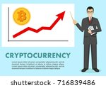 cryptocurrency concept.... | Shutterstock .eps vector #716839486