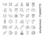 science laboratory equipments... | Shutterstock .eps vector #716840770