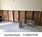 home gutted after hurricane...   Shutterstock . vector #716842558