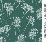 pattern of the umbrella plants... | Shutterstock .eps vector #716843110