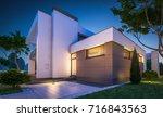 3d rendering of modern cozy... | Shutterstock . vector #716843563