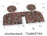 large and diverse group of... | Shutterstock . vector #716845744