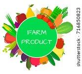 vector vegetables icons set in... | Shutterstock .eps vector #716850823