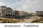 view over a construction site... | Shutterstock . vector #716850943