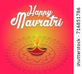 indian festival navratri... | Shutterstock .eps vector #716851786