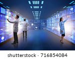 concept of telemedicine with...   Shutterstock . vector #716854084