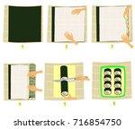 preparation of sushi in...   Shutterstock .eps vector #716854750