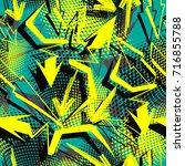 vector seamless pattern. modern ... | Shutterstock .eps vector #716855788