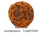 Small photo of Star anis traditional decorative Christmas season ball