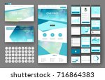 website template  one page... | Shutterstock .eps vector #716864383