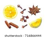 watercolor illustration of... | Shutterstock . vector #716866444