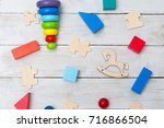 developing wooden toys for the... | Shutterstock . vector #716866504