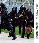 traditional morris dancers   Shutterstock . vector #716867740
