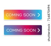 coming soon button colorful... | Shutterstock .eps vector #716870494