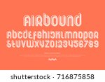 set of stylized alphabet... | Shutterstock .eps vector #716875858