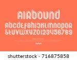 set of stylized alphabet... | Shutterstock .eps vector #716875858