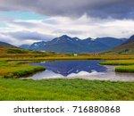 landscape in iceland | Shutterstock . vector #716880868