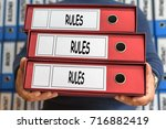 rules  rules  rules concept... | Shutterstock . vector #716882419