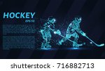 a hockey game consists of... | Shutterstock .eps vector #716882713