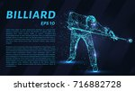 the billiard particle. man... | Shutterstock .eps vector #716882728