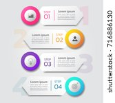 infographics template with 4... | Shutterstock .eps vector #716886130