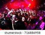 barcelona   jan 17  the crowd... | Shutterstock . vector #716886958