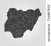 map of nigeria  | Shutterstock .eps vector #716887810