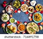 festive food for indian... | Shutterstock . vector #716891758