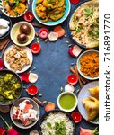 festive food for indian... | Shutterstock . vector #716891770