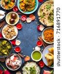 festive food for indian... | Shutterstock . vector #716891770