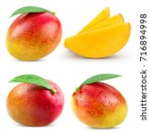 mango fruit collection isolated ... | Shutterstock . vector #716894998
