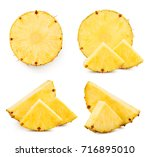 pineapple fruit collection... | Shutterstock . vector #716895010