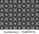 black and white ornament. u | Shutterstock . vector #716895976