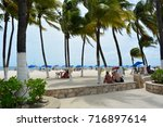 isla mujeres  mexico   aug 26th ... | Shutterstock . vector #716897614