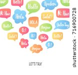color speech bubbles poster.... | Shutterstock .eps vector #716900728