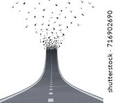freedom road concept as a... | Shutterstock . vector #716902690