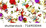 wide seamless floral background ... | Shutterstock .eps vector #716903044
