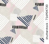 memphis seamless  pattern in... | Shutterstock .eps vector #716904730