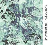 Skeletons Leaf In Colors Blue...