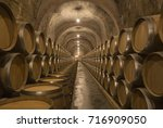 Barrels Of Wine In An Old...