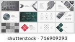 green and gray elements for... | Shutterstock .eps vector #716909293