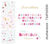 party design elements set.... | Shutterstock .eps vector #716910334