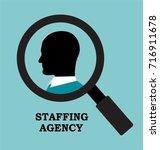recruitment agency is looking...   Shutterstock .eps vector #716911678
