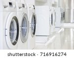 washing machines  dryer and... | Shutterstock . vector #716916274