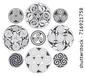 vector celtic spiral design for ... | Shutterstock .eps vector #716921758