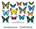Tropical Butterflies Set....