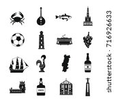portugal travel icons set.... | Shutterstock .eps vector #716926633